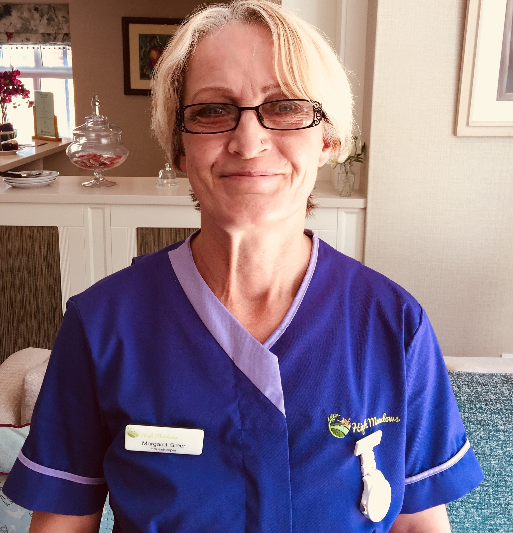 Margaret Greer - House Keeper at High Meadows Care Home-