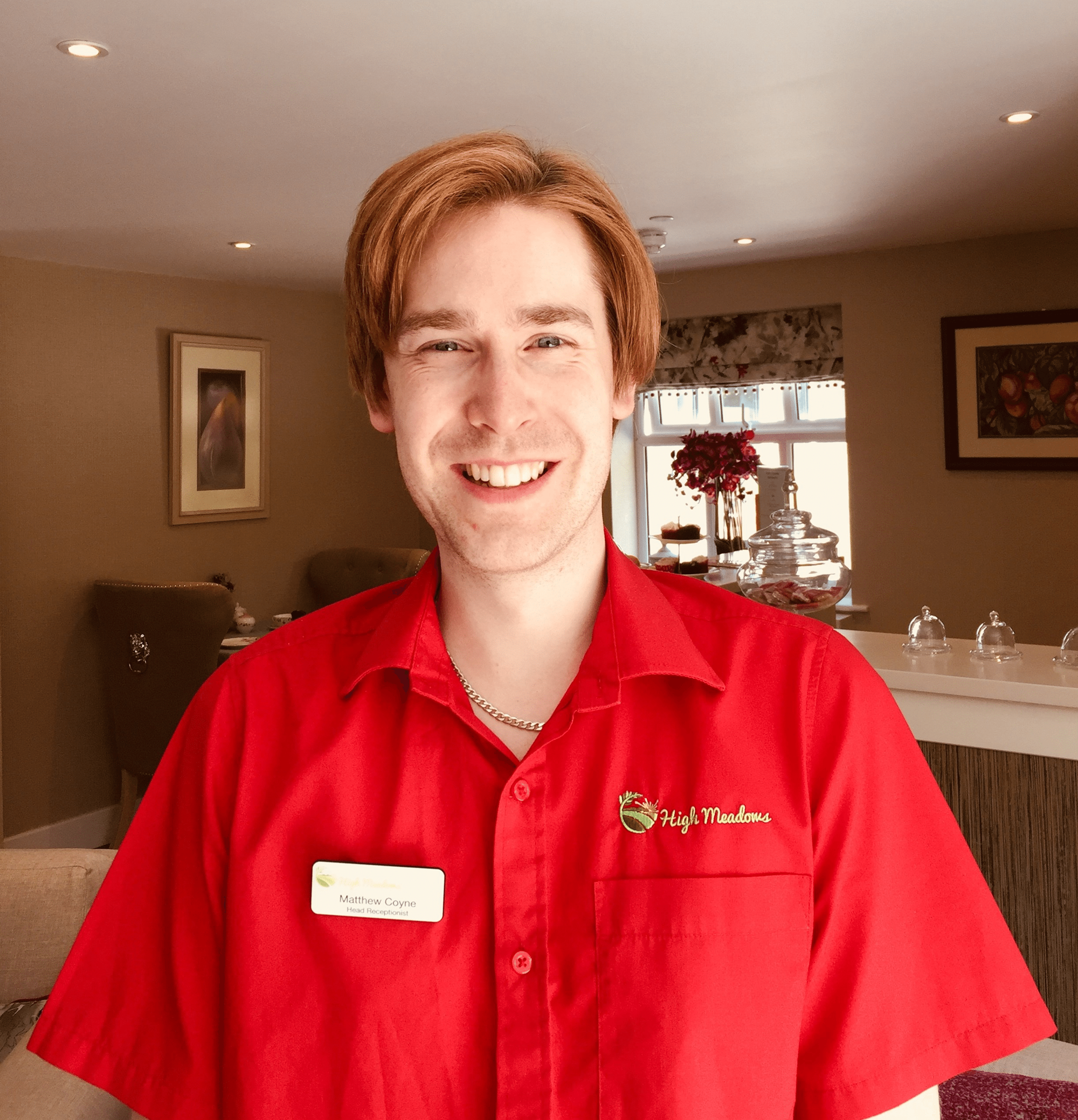 Matthew Coyne - Head Receptionist at High Meadows Care Home